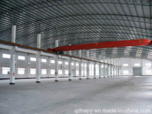 Prefab Steel Structure Workshop with Crane pictures & photos