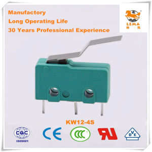 Lema 5A Green Straight PCB Quick Connect Terminal Kw12-4s Micro Switch pictures & photos
