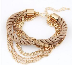 Bracelet Jewellry Jewelry Fashion Multilayer Metal Chain Braided Charm Bracelet pictures & photos
