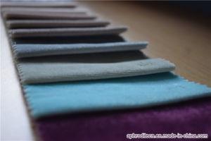 Polyester Fleece Velour Sofa Fabric pictures & photos