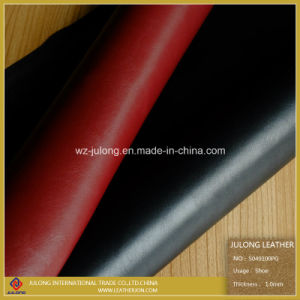 Polished PU Leather for Shoes (S049) pictures & photos