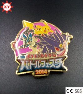 Custom Cheap Cartoon Metal Badge with Epoxy Coating pictures & photos