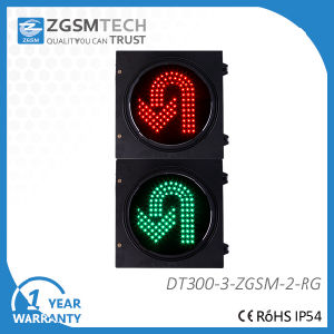 High Flux Turn Round Red and Green Color LED Traffic Signal Diameter 300mm