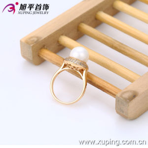 2016 Spring Xuping Fashion Elegant 18k Gold-Plated Women Ring with Imitation Pearl pictures & photos