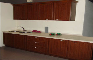Plastic Wrap Kitchen Cabinets Furniture pictures & photos