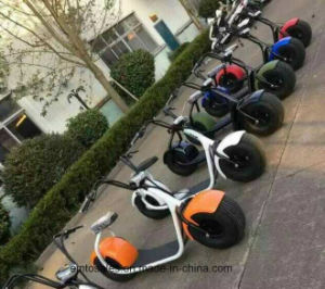 Harley Style Cheap Electric Motorbike 60V Battery Pedal Scooter pictures & photos
