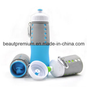 650ml Silicone Folding Water Bottle Sedex and BSCI Audit Plastic Cup BPS011