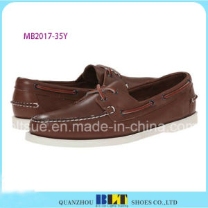 Best Sale Leather Leisure Boat Shoes pictures & photos