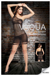 Sexy Lingerie Single Shoulder Fishnet Baby Doll 8953 pictures & photos