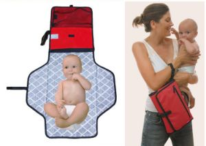 Reusable Waterproof Baby Diaper Changing Pad Bag pictures & photos