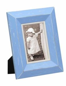 Bright Blue Color Wooden Photo Frame for Home Deco pictures & photos