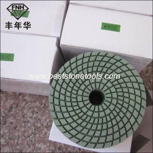 Wd-4 Shineful Diamond Flexible Polishing Pad with Magic Tape Backed pictures & photos