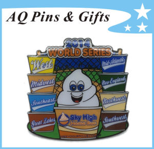 High Quality Metal Badge Pin for World Series Run (badge-161) pictures & photos