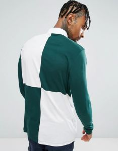 Longline Rugby Men′s Long Sleeve Polo Shirt pictures & photos