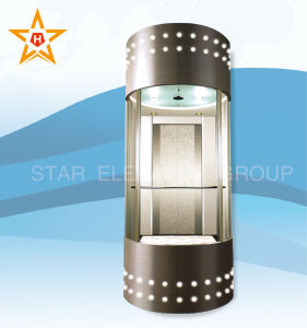 Panoramic Elevator (semicircle type) with Hairline Stainless Steel