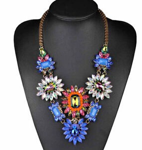 Colorful Stone Flower Necklace (XJW13713) pictures & photos