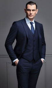 Italian Style Tailor Slim Fit Business Men Fitted Suit pictures & photos