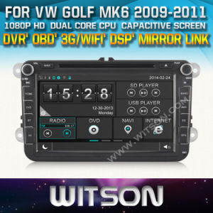 Witson Car DVD Player with GPS for Volkswagen Series (New Version) (W2-D8241V) CD Copy with Capacitive Screen Bluntooth 3G WiFi OBD DSP pictures & photos