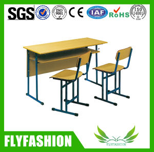 Double Attached Desk and Chair School Furniture (SF-51D) pictures & photos