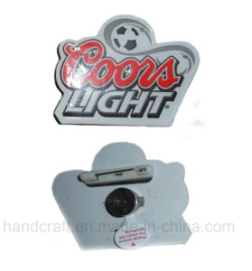 Flash LED Blinking Pin with Customized Logo Printed (Art F010)