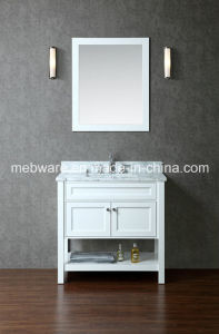 "36"" Single-Sink Bathroom Vanity Set /White Solid Wood Bathroom Vanities pictures & photos"