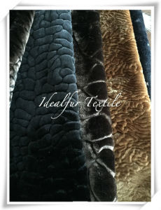 Solid Boa Plush Faux Fur with Embossed pictures & photos