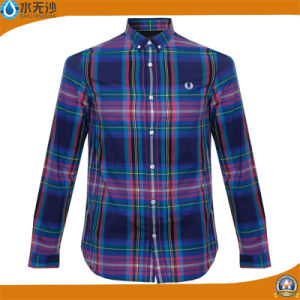 OEM 100% Cotton Long Sleeve Fashion Casual Shirts for Men