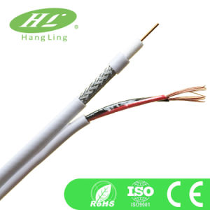 95% Braiding Rg59 Coaxial Cable with Power Cable (CE/RoHS Certificated)