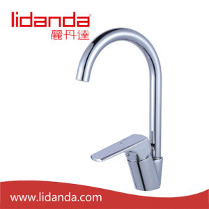 Contemporary Kitchen Faucet with Chrome Finish