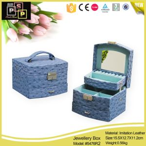 PU Leather Luxury Hand Made Jewelry Storage Box pictures & photos