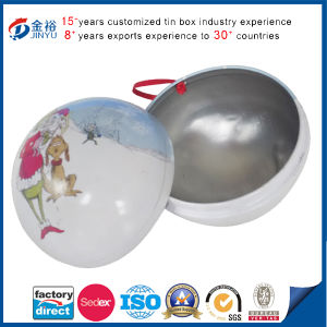Ball Shape Christmas Gift Tin Box pictures & photos