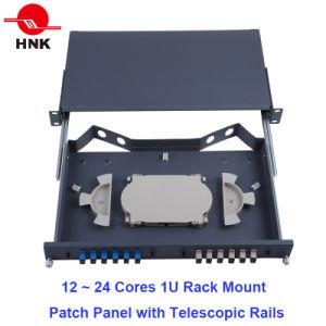 "24~48 Cores 19"" 1u/2u Fiber Optic Rack Mount Patch Panel ODF pictures & photos"