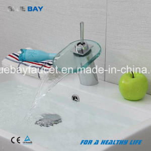 Bluebay Chrome Finish Brass Body Waterfall Bathroom Basin Sink Mixer Tap pictures & photos