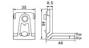 Best Wondrous Joint Corner Hl6422 for Aluminum Profile pictures & photos