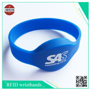 RFID Silicone Wristband, with Silkscreen Printing Logo pictures & photos
