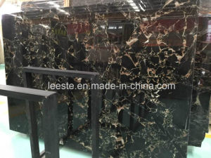 China High Polished Black Marble - Black Golden Flower Marble pictures & photos
