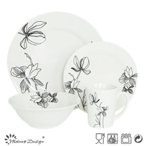 Elegant Porcelain 16PCS Dinner Set with Cut Decal pictures & photos