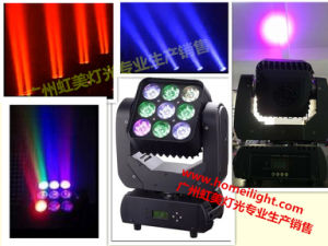 2017 Newest Infinite Rotating RGBW 4 in 1 LED 9 PCS * 10W Matrix Pixel Moving Head Beam for Stage Show Party pictures & photos