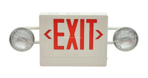 Multi-Functional Remote Dual Heads Combination LED Exit Sign & Emergency Light pictures & photos