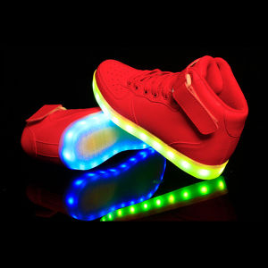 Generic Unisex Red Luminous USB Charging LED Shoes From China pictures & photos
