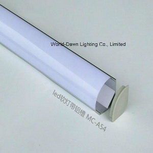Thick Material LED Tube Light Aluminum Profile (WD-A54-1) pictures & photos