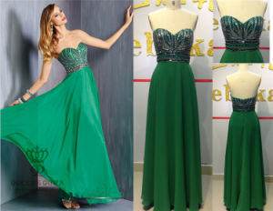 High Quality Heavy Beaded Evening Dress with Beading pictures & photos