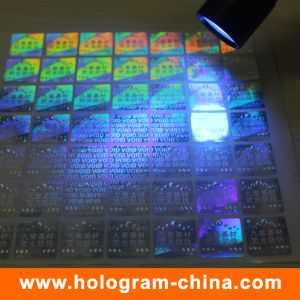 3D Laser Invisible Fluorescent Security Holographic Sticker pictures & photos