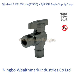 "Qtr-Trn Lead Free 1/2"" Wirsbo (F1960) X 3/8""Od Angle Supply Stop Valve pictures & photos"