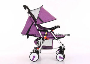 Flax Folding Baby Stroller with Basket pictures & photos