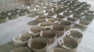 Pedestal Ceramic Colourful Wash Basin CE-Z431r pictures & photos
