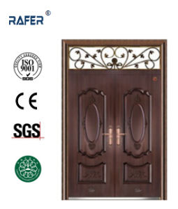 Copper Color Double Leaf Steel Door (RA-S177) pictures & photos