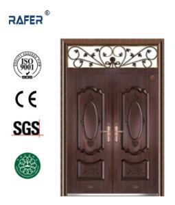 Copper Color Double Leaf Steel Door (RA-S177) pictures & photos