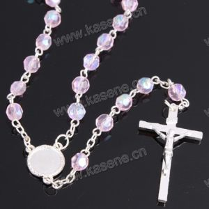 Factory Outlet Fashion Mixed Colour 6mm Crystal Facetd Religious Necklace pictures & photos