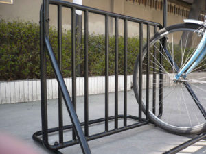 Multi-Functional Powder-Coated Metal Frame Bicycle Rack PV003 pictures & photos